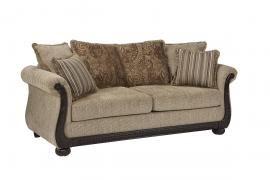 Beasley Collection by Coaster 505242 Brown Chenille Fabric Loveseat