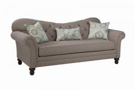Carnahan Collection by Coaster 505251 Stone Grey Linen Fabric Sofa