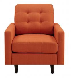 Kesson Collection by Coaster 505373 Orange Linen Fabric Chair