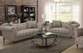 Alasdair Collection 505571 Light Brown Deep Tufted Sofa Set