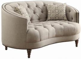 Avonlea Collection By Coaster 505642 Grey Linen Loveseat