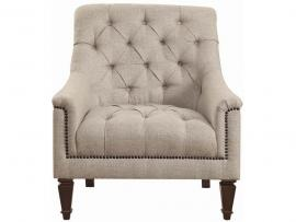 Avonlea Collection By Coaster 505643 Grey Linen Chair