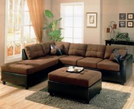 Harlow Collection 505655 Two Tone Sectional Sofa