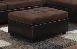 Mallory Chocolate Two-Tone Fabric Ottoman 505656 by Coaster