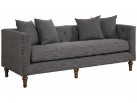 Ellery Collection by Coaster 505771 Grey Tweed Fabric Sofa