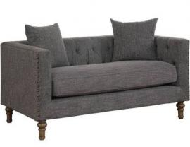 Ellery Collection by Coaster 505772 Grey Tweed Fabric Loveseat