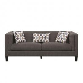 Sawyer by Scott Living 506191 Dusty Blue Nubby Houndstooth Fabric Sofa