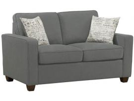 Bardem Collection by Coaster 506262 Cobblestone Dobby Fabric Loveseat