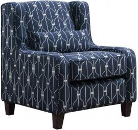 Hallstatt Collection by Coaster 506293 Navy & White Fabric Chair