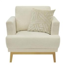 Margot by Scott Living 506363 Beige Low Pile Chenille Fabric Chair