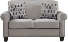 Gideon Collection by Coaster 506402 Cement Warp knit Fabric Loveseat