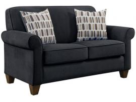 Gideon Collection by Coaster 506405 Graphite Warp knit Fabric Loveseat