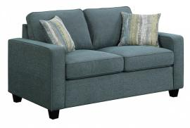 Scott Living Brownswood 506522 Blue Transitional Loveseat