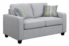 Scott Living Brownswood 506532 Grey Transitional Loveseat
