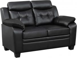 Finley Collection 506552 Black Loveseat