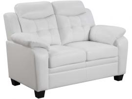 Finley Collection 506555 White Loveseat