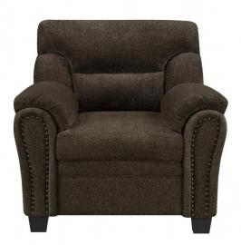 Clemintine by Coaster 506573 Brown Chenille Fabric Chair
