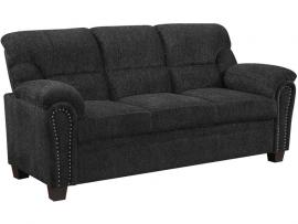 Clemintine by Coaster 506574 Graphite Chenille Fabric Sofa