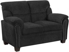 Clemintine by Coaster 506575 Graphite Chenille Fabric Loveseat