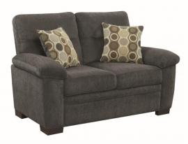 Fairbairn by Coaster 506585 Charcoal Chenille Fabric Loveseat