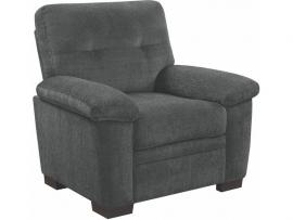 Fairbairn by Coaster 506586 Charcoal Chenille Fabric Chair