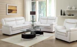 Arabella Collection 506594 Snow White Sofa & Loveseat Set