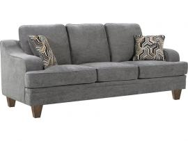Burbank Collection by Coaster 506671 Grey Flat Weave Fabric Sofa