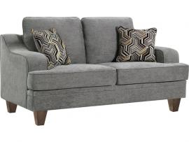 Burbank Collection by Coaster 5066712 Grey Flat Weave Fabric Loveseat