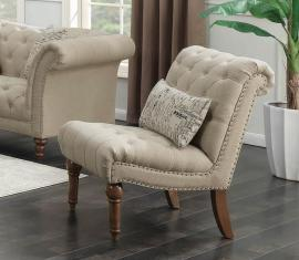 Josephine Collection by Coaster 508183 Oatmeal Linen Fabric Chair