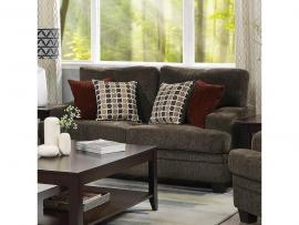 Griffin by Coaster 508382 Brown Chenille Fabric Loveseat