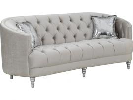 Avonlea Collection By Coaster 508461 Grey Velvet Sofa