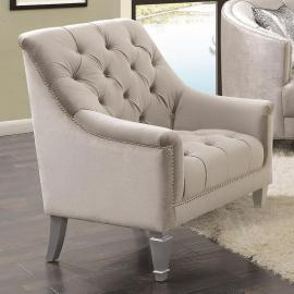 Avonlea Collection By Coaster 508463 Grey Velvet Chair