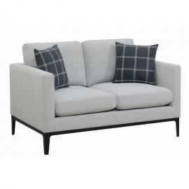 Asherton by Scott Living 508482 Light Grey Woven Fabric Loveseat