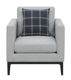 Asherton by Scott Living 508483 Light Grey Woven Fabric Chair