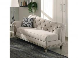 Gilmore Collection by Coaster 508543 Grey Chenille Fabric Chaise