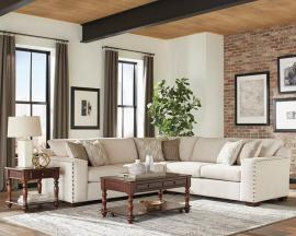 Aria 508610 Oatmeal Chenille Fabric Sectional by Coaster