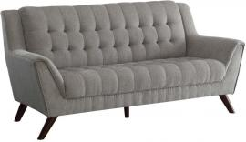 Baby Natalia Collection by Coaster 511031 Dove Grey Chenille Fabric Sofa