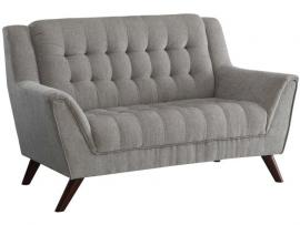 Baby Natalia Collection by Coaster 511032 Dove Grey Chenille Fabric Loveseat