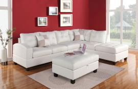 Kiva Collection 51175 White Sectional Sofa