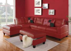 Kiva Collection 51185 Red Sectional Sofa