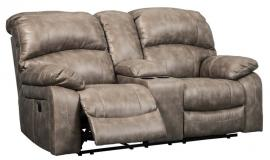 Dunwell Driftwood by Ashley 5160218 Power Reclining Loveseat w/ Adjustable Headrest