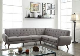 Essick 52765 Mid Century Modern Grey Sectional Sofa