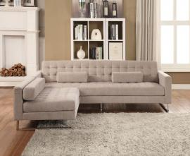 Sampson 54180 Modern Beige Reversible Chaise Sectional