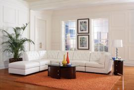 Quinn Collection 551021 White Tufted Modular Sectional Sofa