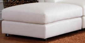 Quinn White Bonded leather Storage Ottoman 551023 by Coaster