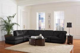 Quinn Collection 551031 Black Tufted Modular Sectional Sofa