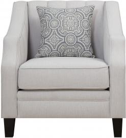 Loxley Collection by Coaster 551143 Grey Linen Fabric Chair