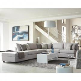 Scott Living Charlotte 551221 Grey Modular Sectional Sofa