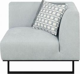 Corrine by Scott Living Grey Fabric Corner 551332 by Coaster
