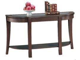 Coaster 5526 Cappuccino Glass Inlay Rounded Sofa Table